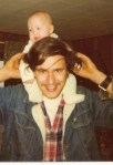 Dad and me, 1975