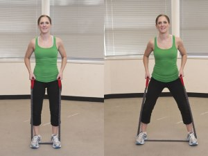 resistance band side steps